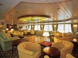 The lounge of a Hotelschiff Tube & Wire Düsseldorf