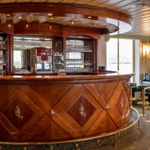 The bar of a Hotelschiff